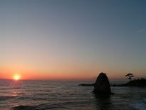 立石公園の夕日