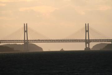 乃生岬から見た瀬戸大橋