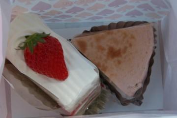 風工房の苺ショートケーキと苺チーズケーキ